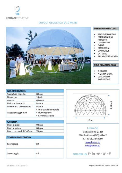cupola geodetica lerian srl cupola geodetica 216 10 mt