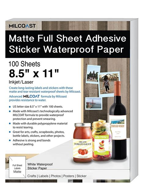 waterproof craft paper milcoast matte sheet waterproof photo craft paper