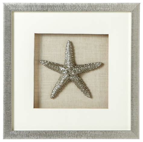 shop houzz midwest cbk large silver starfish shadow box