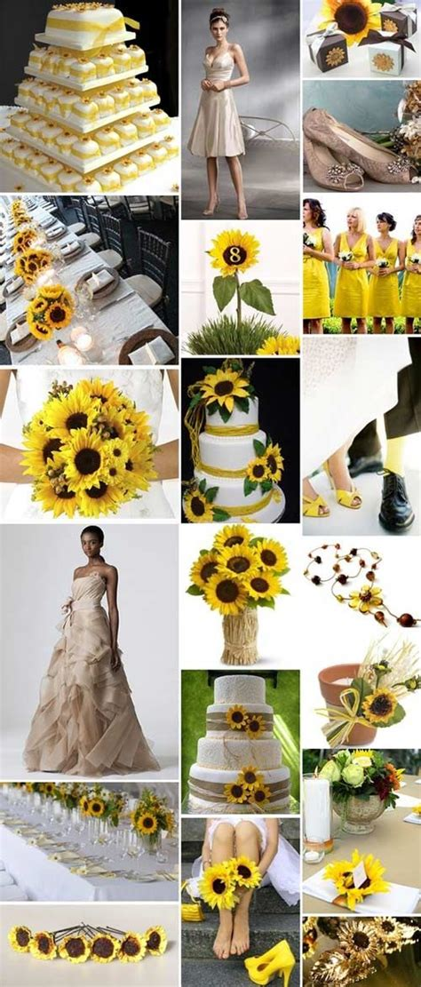sunflower themed wedding wedding theme yellow