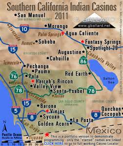 map of casinos in southern california california indian casinos related keywords california