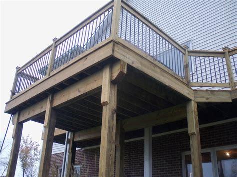 Black Deck Spindles Deck With Black Spindles Wood Decks