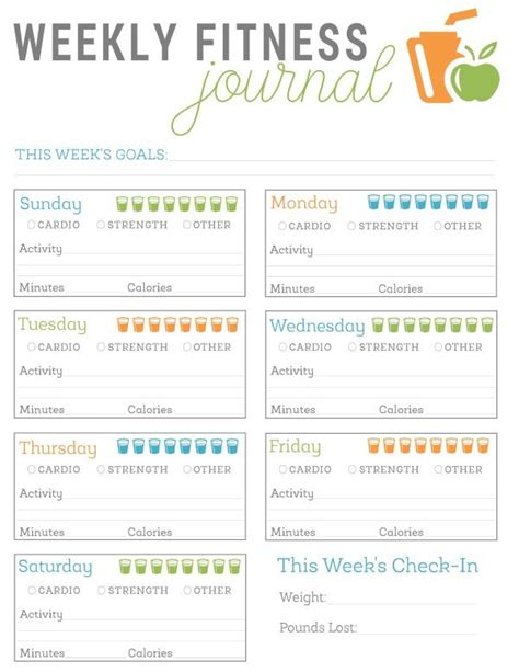 printable weight watchers journal pages free printable fitness journal template fitness journal