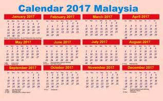 Calendar 2017 Excel Malaysia Calendar 2017 With Holidays Malaysia