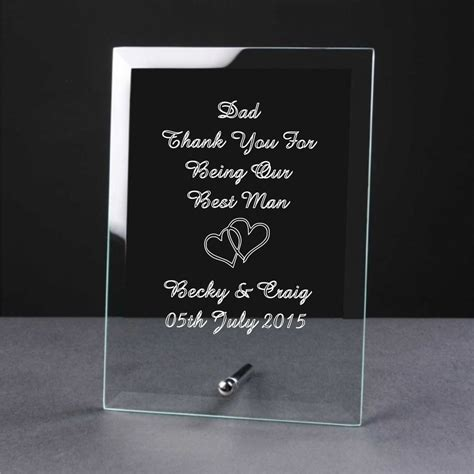 Wedding Gift Engraving Ideas by Personalised Engraved Glass Wedding Of The Brides