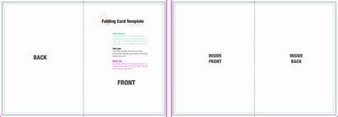 Powerpoint Quarter Fold Card Template by Quarter Fold Greeting Card Template Images Template