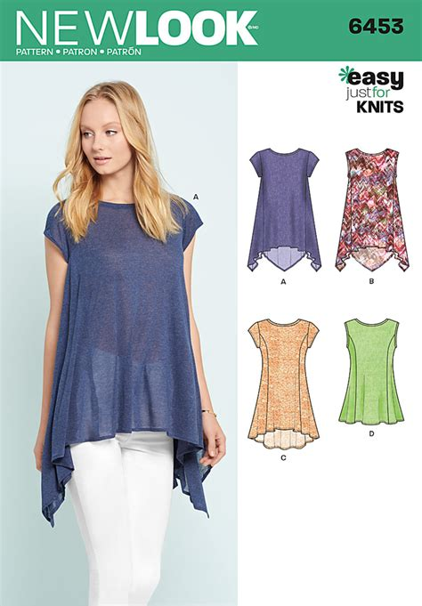 pattern sewing review new look 6453 misses easy knit tops