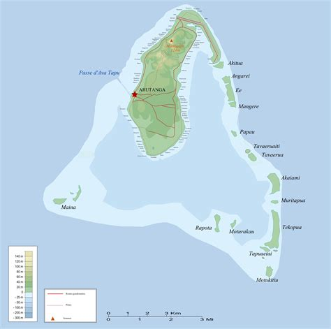 cook islands world map aitutaki map
