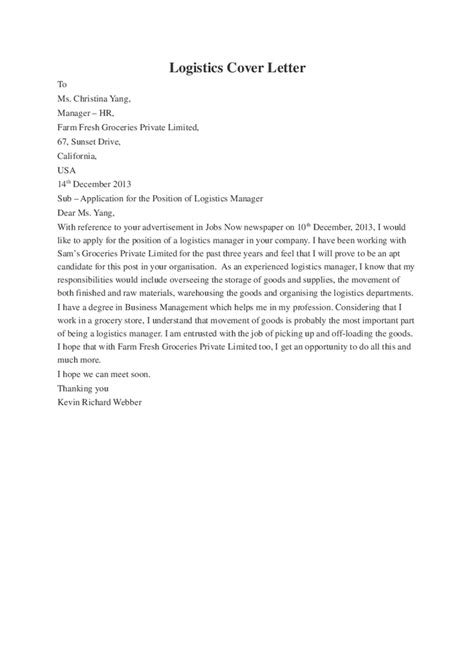 cover letter for internship logistics cover letter for resume logistics logistics cover letter