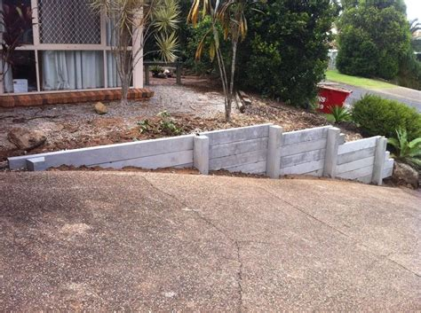 Concrete Sleeper Retaining Walls Price by 122 Best Images About Retaining Walls On The