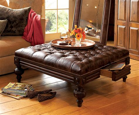 leather table ottoman square leather ottoman coffee table coffee table design