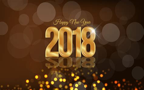 happy new year 2018 wallpaper 4k hd for desktop