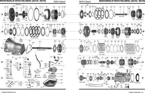 automatic overdrive diagram      transmission parts chrysler