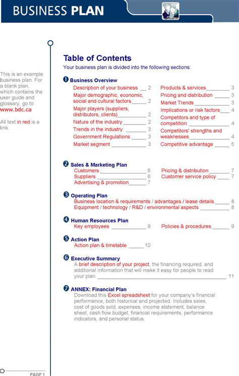 business plan sle download free premium templates