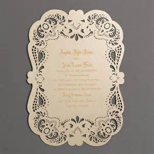 lace wedding invitations gold fancy that