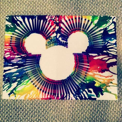diy disney crafts diy disney home decor melted crayon mickey mouse wall