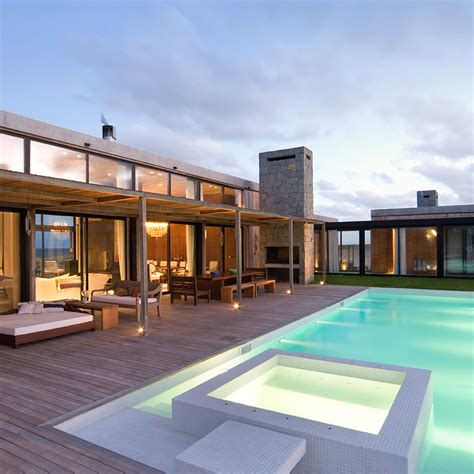 modern home design with pool decked area pool and jacuzzi interior design ideas