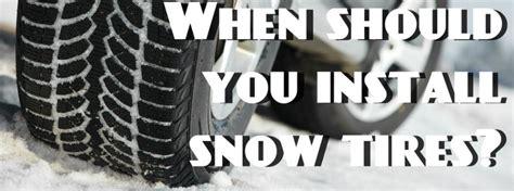 put snow tires   vehicle