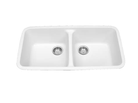 Solid Surface Sinks Kitchen Meridian Solid Surface 100 Equal Bowl Integral Kitchen Sink Tower Industries Inc