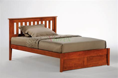 cherry double full size tall platform bed drawers
