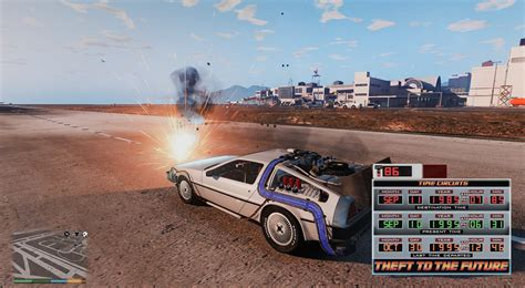 mod gta 5 delorean back to the future time circuits mod gta5 mods com