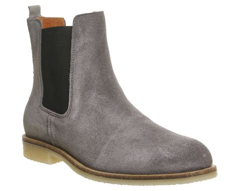 mens grey chelsea boots mens ask the missus chelsea boots grey suede boots