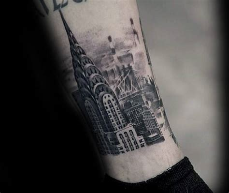 building tattoos 70 city skyline designs for downtown ink ideas