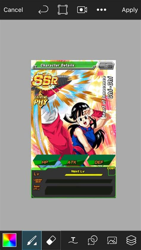 dokkan battle card template make a custom dokkan card dragonballz amino