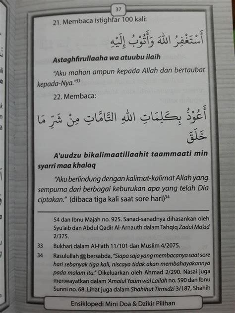 Ensiklopedi Mini Doa Dan Dzikir Pilihan buku doa dan dzikir pilihan translate arab toko muslim title