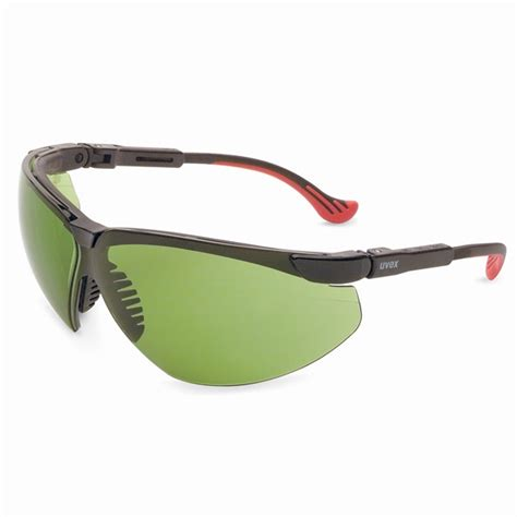 uvex genesis xc safety glasses black frame green shade