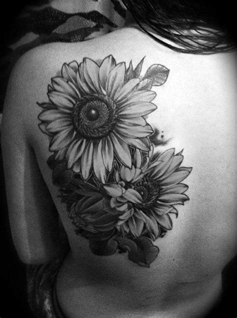 3d tattoo virginia black and grey 3d flowers tattoo on left back shoulder