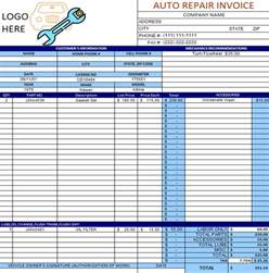 Mechanic Shop Invoice Templates   printable templates free