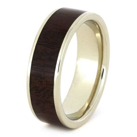 wedding bands wood wood wedding ring ipe wood wedding band in white gold