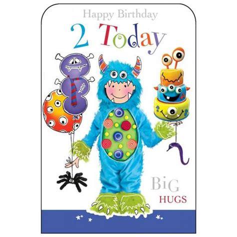 Birthday Card 2 Year Boy Happy Birthday 2 Today Girls Birthday Card Karenza Paperie