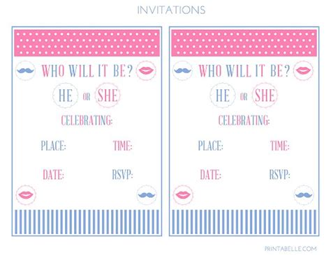 Free Printable Gender Reveal Party Invitations Theruntime Com Free Printable Gender Reveal Invitation Templates