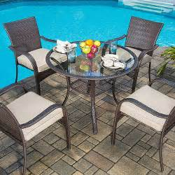 mainstays wicker 5 patio dining set seats 4