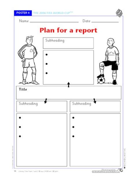 plan for a report free primary ks1 teaching resource