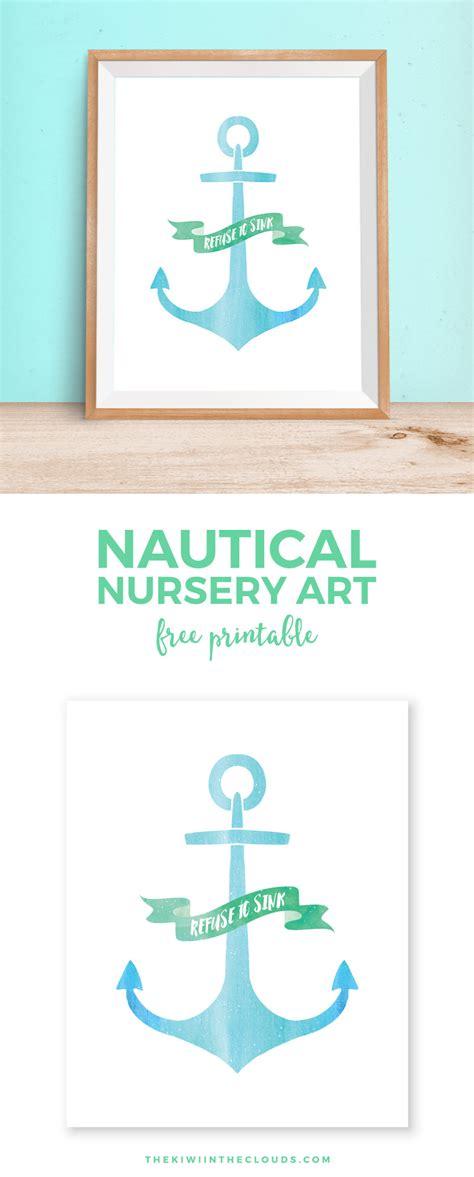 free printable nautical wall art anchor free printable wall art