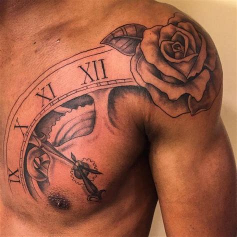 rose tattoos on chest for men top 55 best tattoos for improb