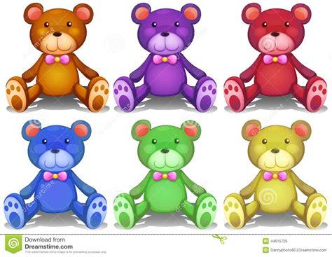 bears colors colorful teddy bears stock vector image of doll blue