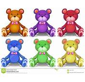 Colorful Teddy Bears Stock Vector Image Of Doll Blue