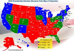 current us election map 2016 electoral college map projections for the