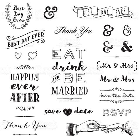 Wedding Vector Font Free by Wedding Typography Stock Vector More
