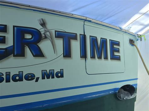 boat lettering maryland hammer time shady side maryland boat transom boats