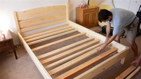 building  queen size bed   lumber youtube