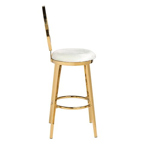 Ivory Bar Stools by Quot O Quot Bar Stool Gold Ivory High Style