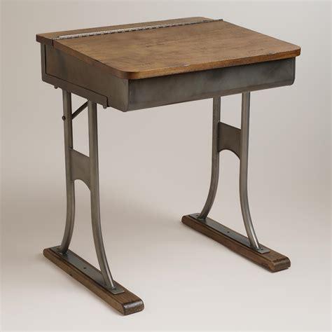 world market desks gunmetal schoolhouse desk world market