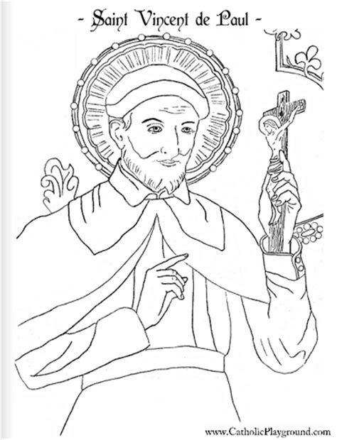 St Vincent De Paul Free Coloring Pages St Coloring Page Catholic