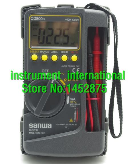 Digital Multimeter Cd800a new sanwa cd800a digital multimeter cd800a cd800a dmm 4000