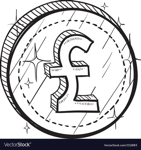 doodle coins doodle currency coin pound vector pencil
